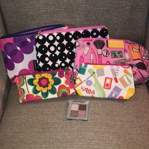 Clinique makeup bags and eyeshadow